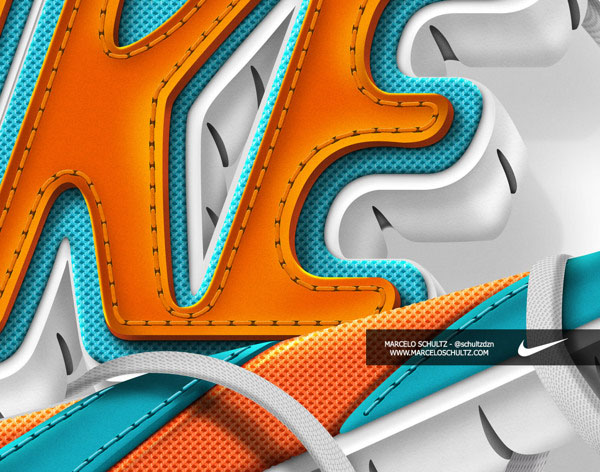 Marcelo Schultz酷炫字体设计之耐克主题(一)