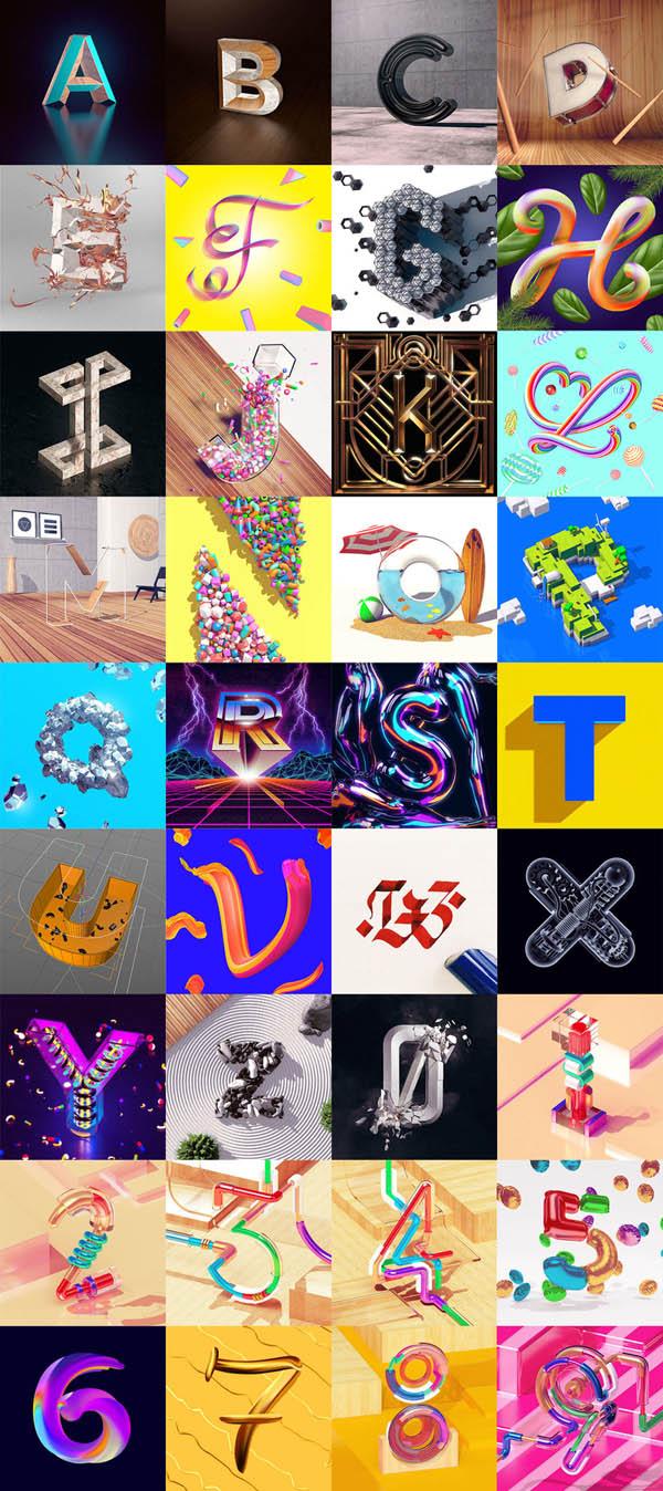 国外字体设计之36天字体项目创意设计(二)