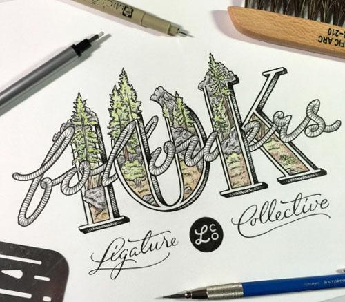 国外设计师Scotty Ruseel手绘字体作品