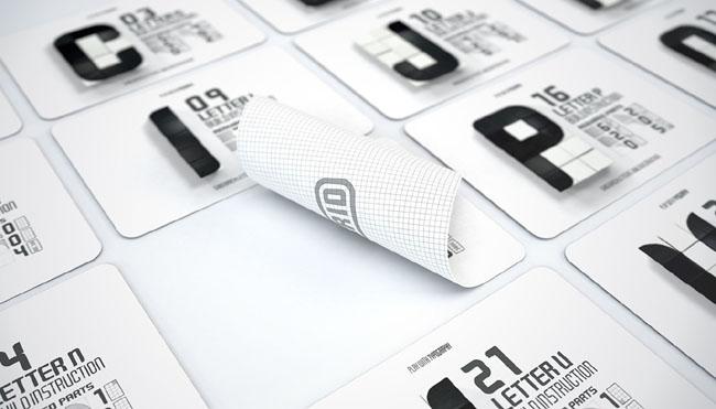 韩国设计师Cheolhong Kim积木形式的格子字体设计