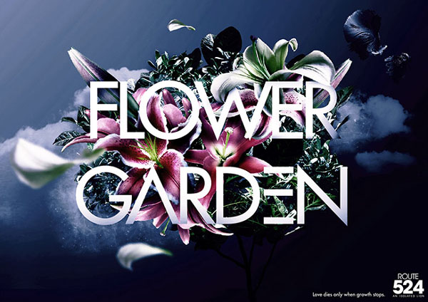 精心收集的国外30款漂亮花卉艺术字体(二)