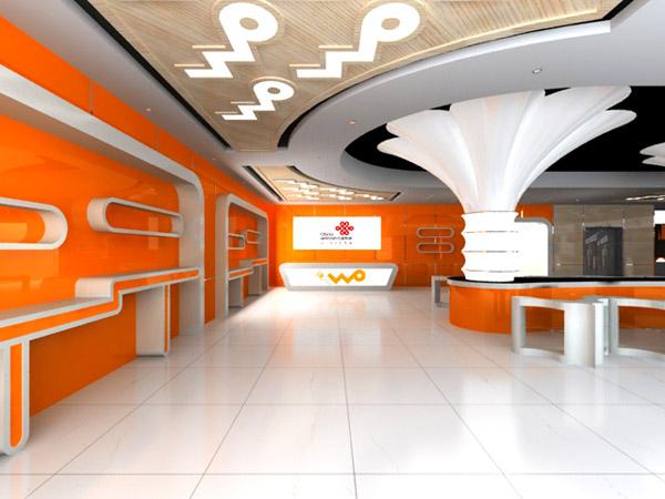 > 包装设计 商铺名称:天行者创意工作室 服务名称:联通营业厅装修案例