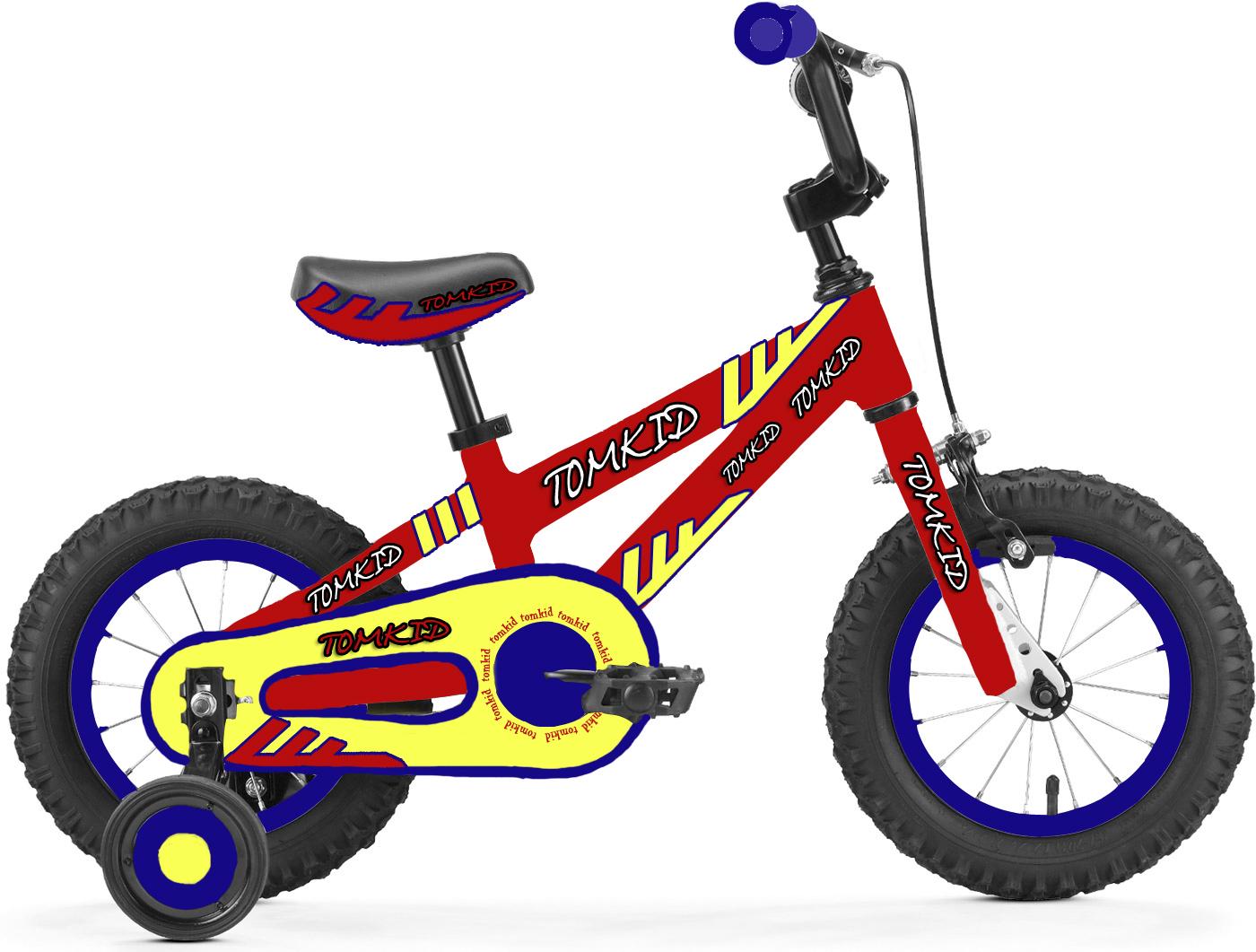 儿童自行车童车贴花设计