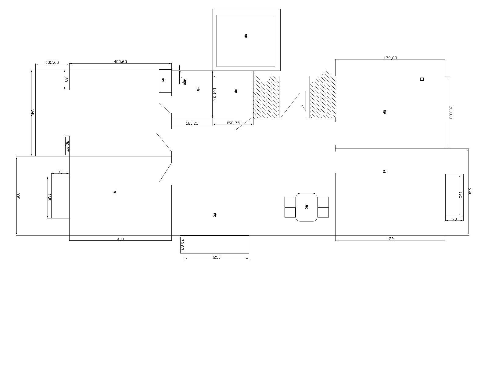天花吊顶平面图:要求详细注明各顶棚标高