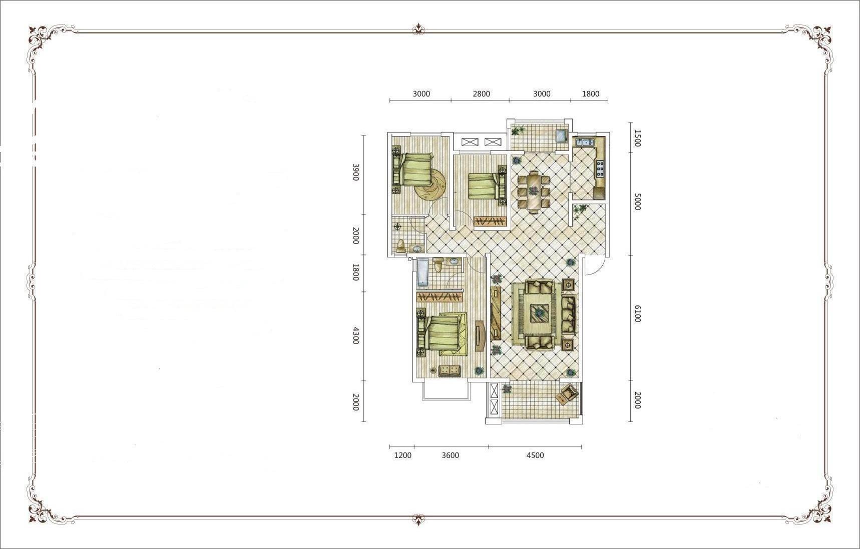宾馆房间装修设计电路图