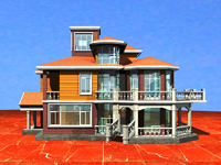 自建单体花园别墅外观设计