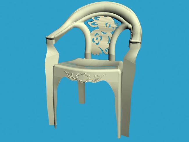 户外塑料椅子设计