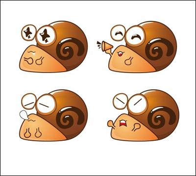 推荐一组可爱生动的蜗牛卡通形象欣赏
