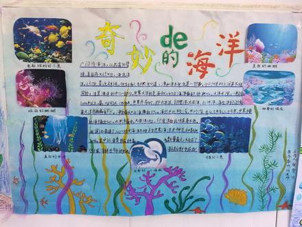 世界海洋日手抄报设计 世界海洋日黑板报资料