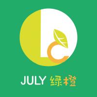 七月绿橙视觉设计