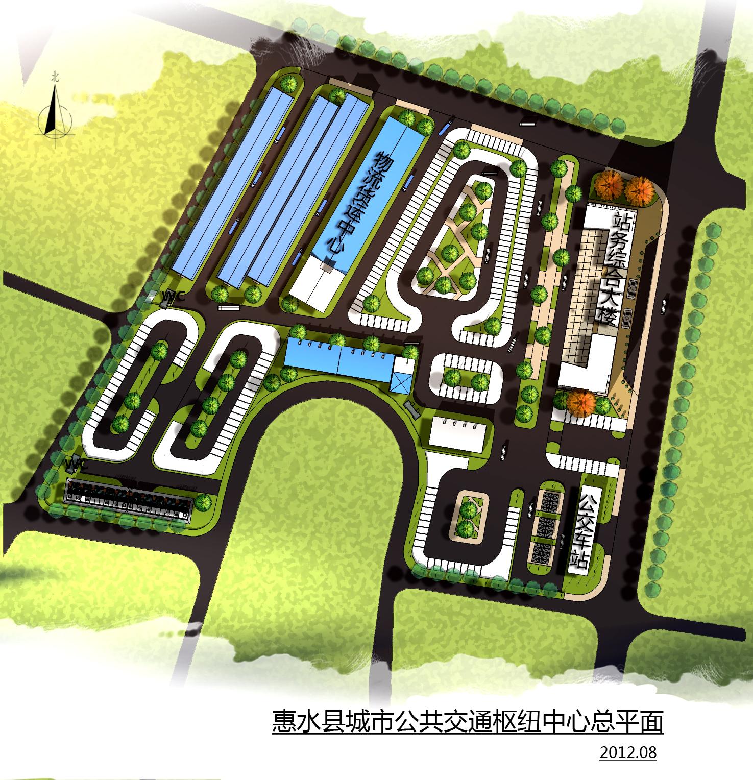 惠水县城市公共交通枢纽中心景观设计方案