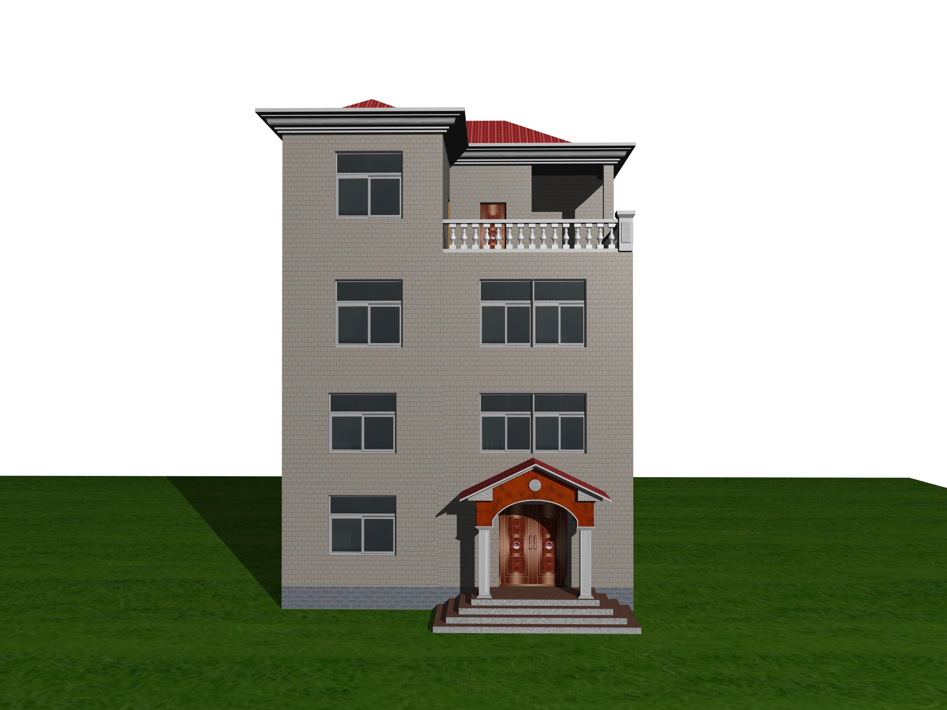 三层半房屋效果图