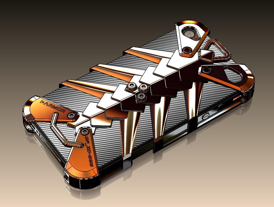 高端镁合金概念手机护套