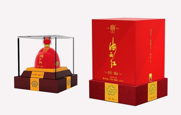 海西红白酒包装设计