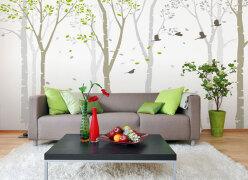 彩绘沙发背景墙设计 十个彩绘沙发背景墙欣赏