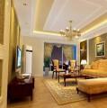 富力城普通住宅2室2厅1卫欧式装修案例效果图