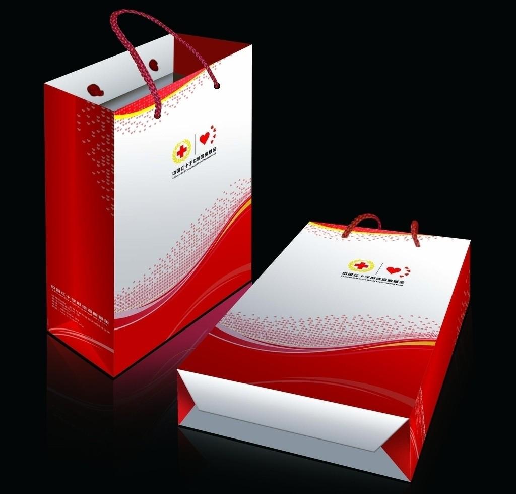 红十字手提袋设计