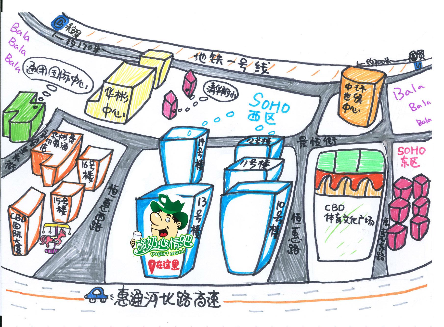 绘制商业街小铺的地图