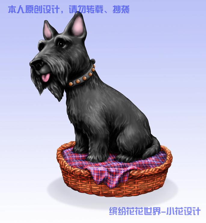 写实狗狗雕像设计 狗狗图案设计 动物图案设计