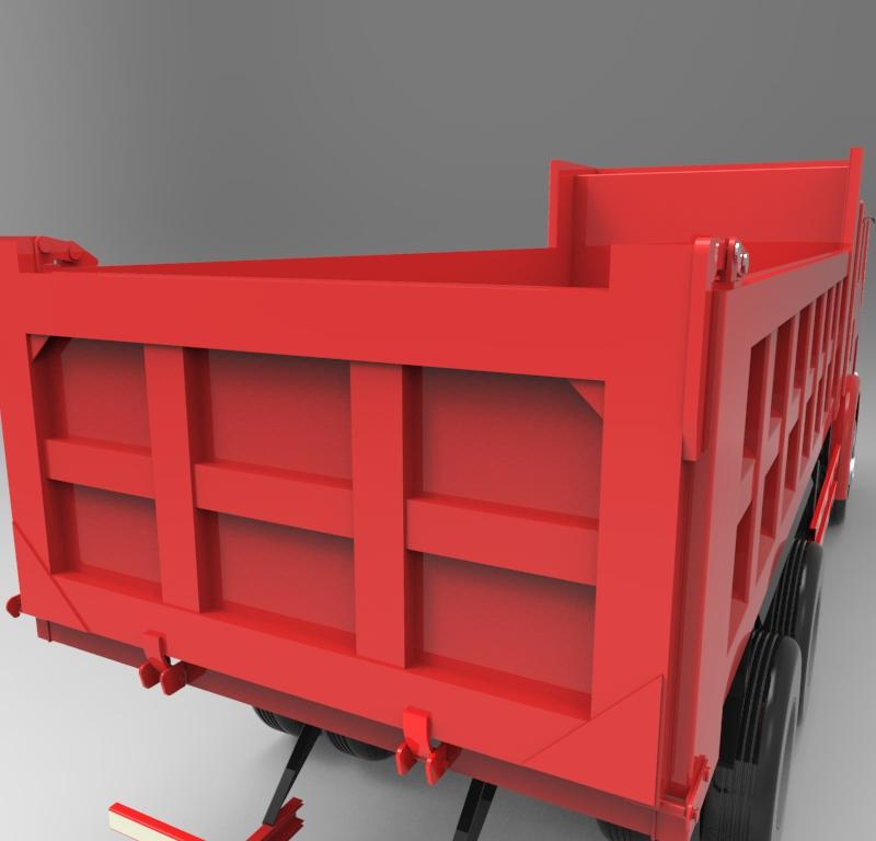 自卸汽车车厢外型结构生产工艺全套