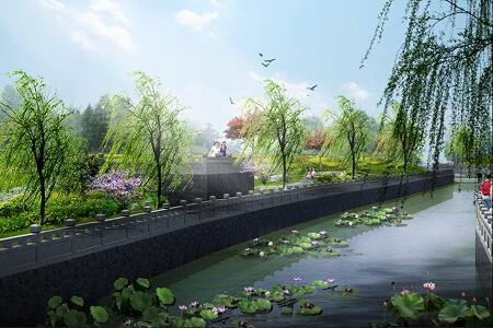 北京河道景观设计_北京河道改道景观设计