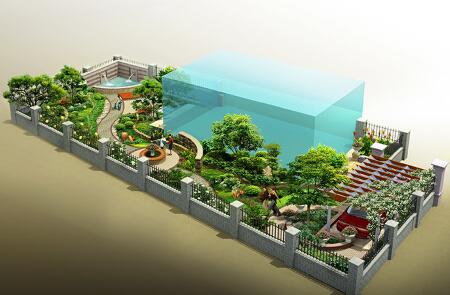 北京庭院景观设计_庭院景观设计效果图制作