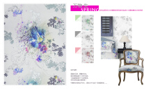 纺织品设计画稿-万物生