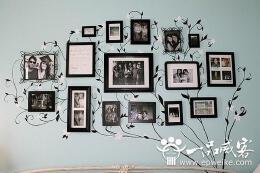 浪漫的家庭照片墙设计  家庭照片墙设计攻略