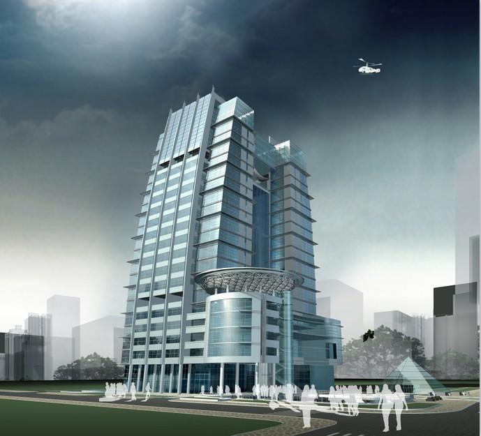 建筑合成图