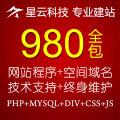 上海企业网站建设/网站建设一条龙服务/980元模板套餐-星云科技