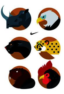 卡通动物绘画