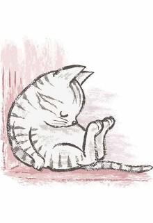 卡通猫咪绘画