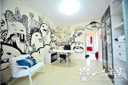 国外创意手绘墙设计流行的内容