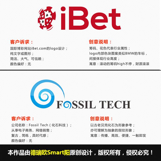 国际IBET和化石科技LOGO设计