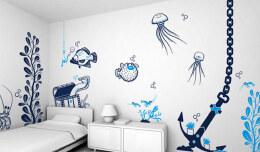 家居室内手绘墙设计布局方法