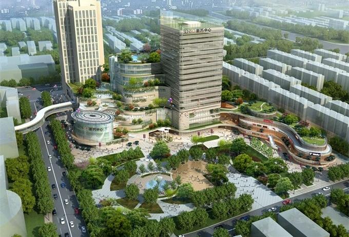 南京江宁CBD商业区规划效果图