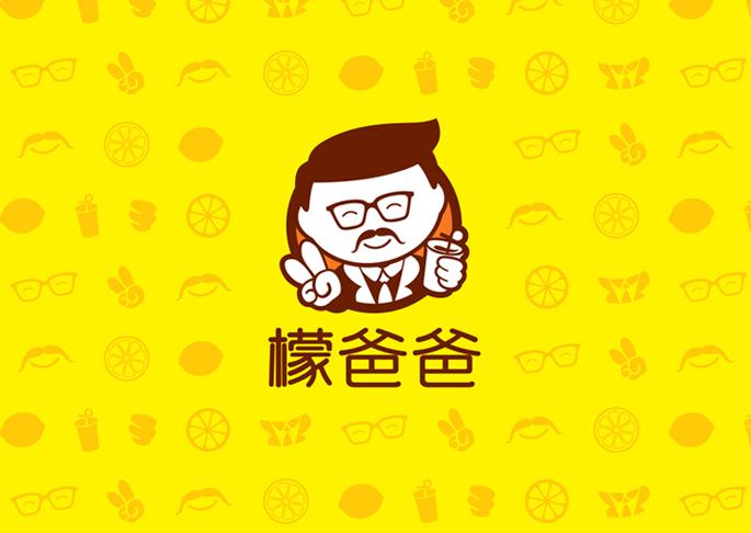 檬爸爸奶茶品牌logo