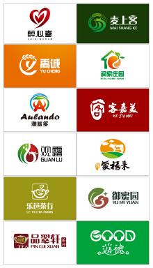 果、蔬、粮、茶logo案例集锦