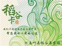 河南叶县稻谷泉农场礼品卡设计