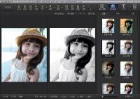七步如何完成在线照片处理文字添加亚光背景