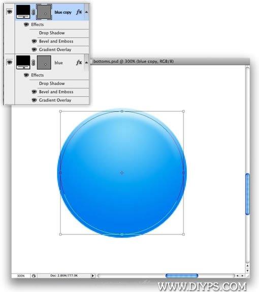 Photoshop制作按钮图标流程