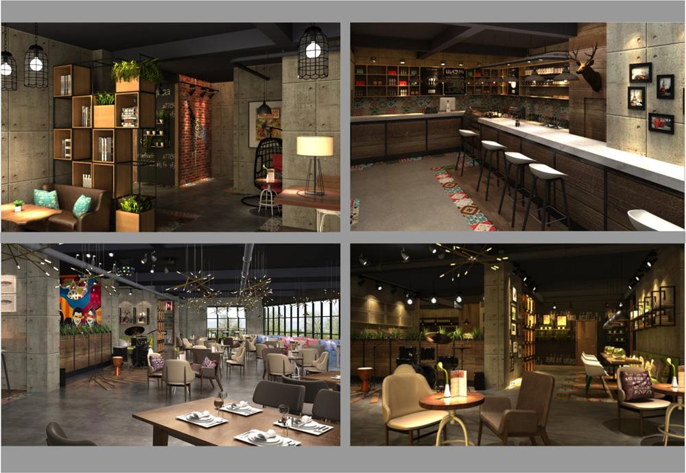 绿野森林西餐咖啡厅设计