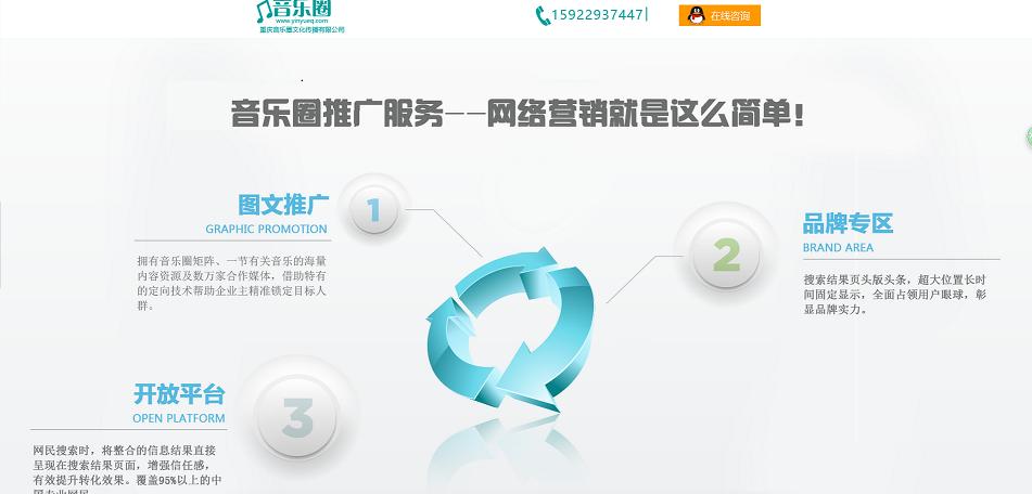 公司展示网站三通推广系统