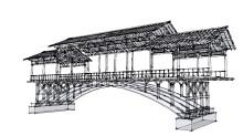木廊桥全木设计