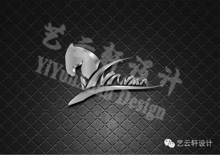 金属感logo