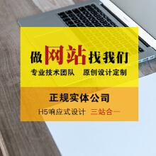 【热门企业站】 豪华网站建设 PC端企业官网 首页设计