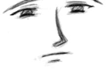 动漫人物素描  动漫人物脸部素描