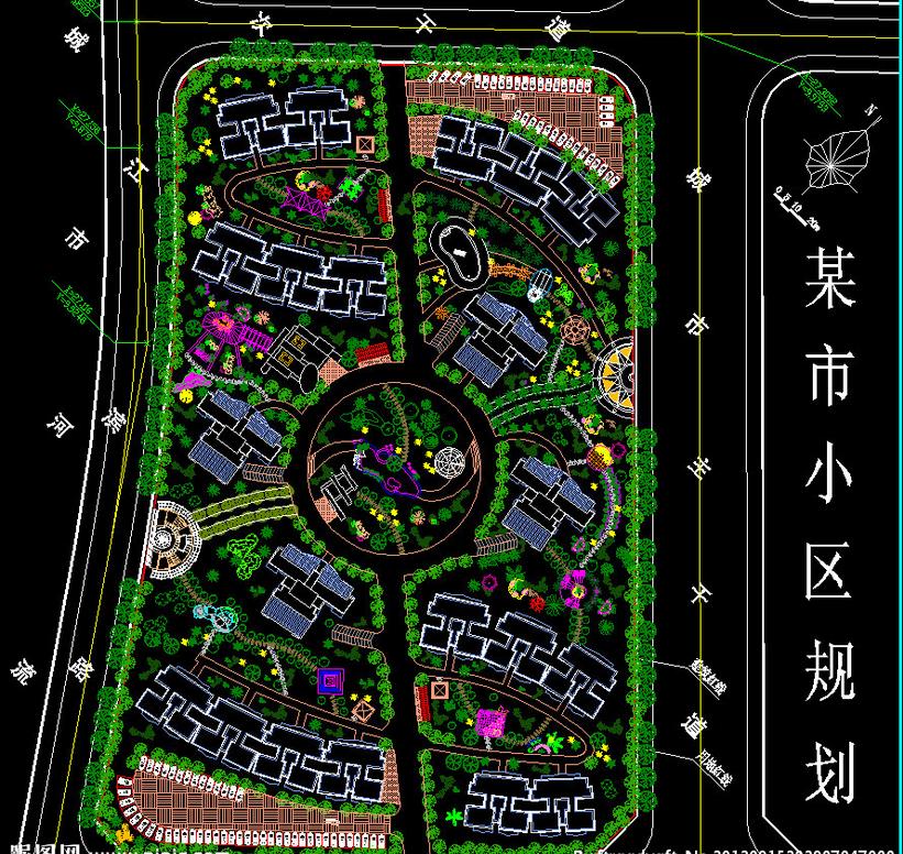 小区规划的合理布局方法