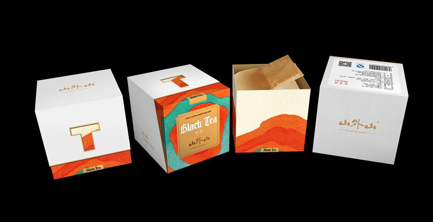 【意形社】山外山散茶系列包装设计  普洱茶  红茶  绿茶  白茶