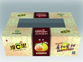 红肉和白肉蜜柚内包装及纸箱设计